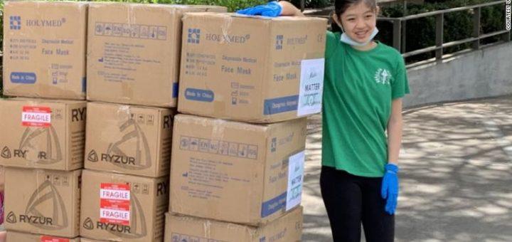 厉害了!这个15岁华裔女孩震惊全网,众筹为医护送1万口罩!