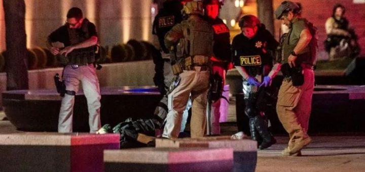 震惊 | 枪声响起,美国警察被爆头